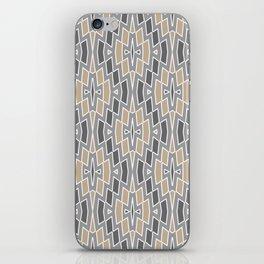 Tribal Diamond Pattern in Gray and Tan iPhone Skin