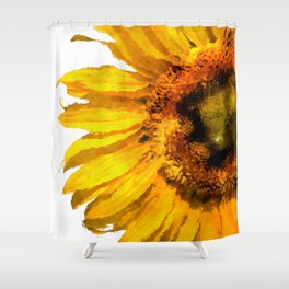 Simply a sunflower Shower Curtain