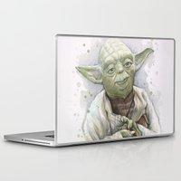 yoda Laptop & iPad Skins featuring Yoda  by Olechka