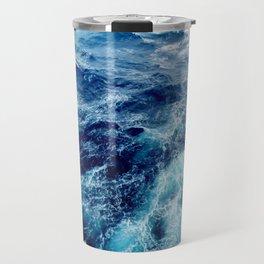 Rough Ocean Waves Travel Mug