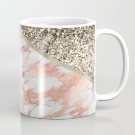 Shimmering gold with rose gold marble Coffee Mug