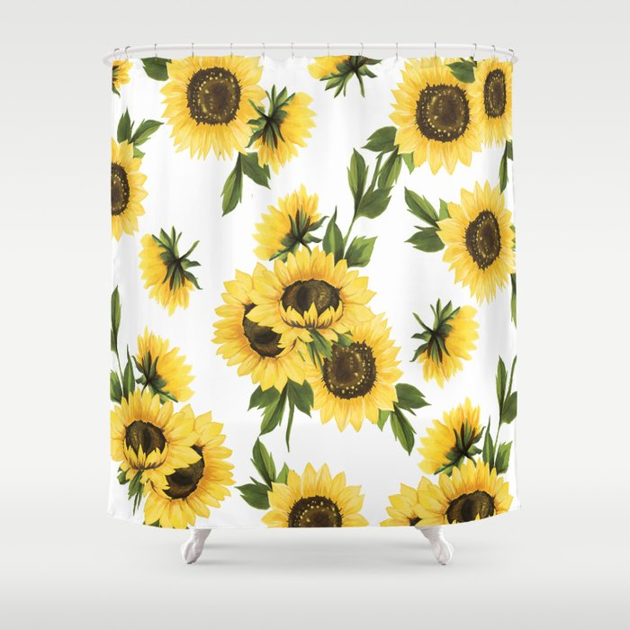 Lovely Sunflower Shower Curtain By Ratedwie