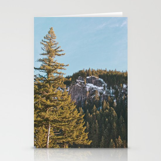 Trees in the Mountains Stationery Cards