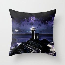 lighthouse plouzane wscl Throw Pillow