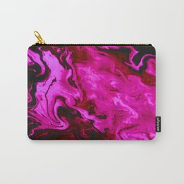 Pink Swirls Abstract Painting Carry-All Pouch