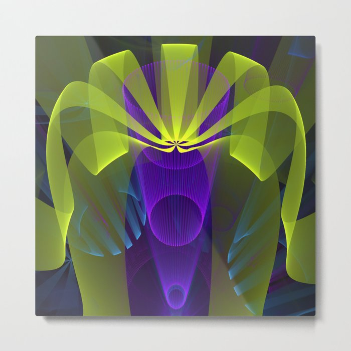 Modern abstract in 3-d Metal Print