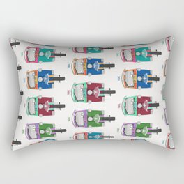 Thailand Tuk Tuks in a Row Pattern Rectangular Pillow