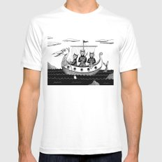 The Harpooners  White Mens Fitted Tee LARGE