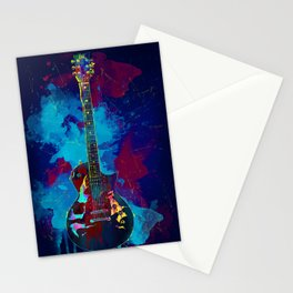Sounds of music. Guitar. Stationery Cards