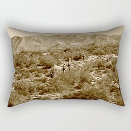 Tonto National Forest and Four Peaks Rectangular Pillow