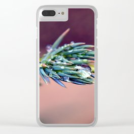 Pine After Rain Clear iPhone Case
