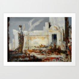 """Gustave Moreau """"Hélène à la porte de Scée"""" Art Print"""