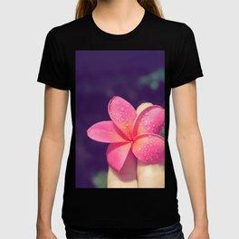 pua melia pink tropical plumeria hawaii T-shirt
