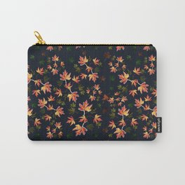 Autumn nature-Fall season, orange leaves, original pattern Carry-All Pouch