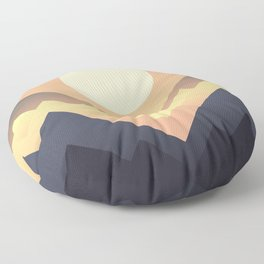 The Sun Rises Floor Pillow