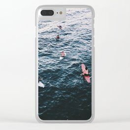 Westside Pile Up | Surfing in Venice beach Clear iPhone Case