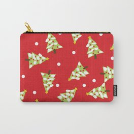 Red Green Modern Christmas Tree Carry-All Pouch