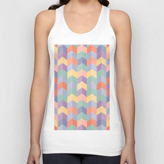Colorful geometric blocks Unisex Tank Top