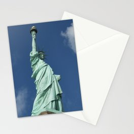Blue Skies Behind Lady Liberty Stationery Cards