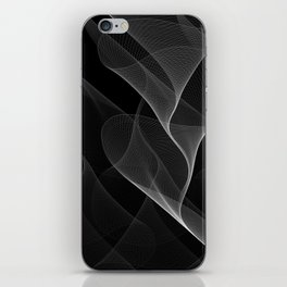 Black and White Flux #minimalist #homedecor #generativeart iPhone Skin
