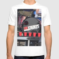 Red Solo - The Strokes White MEDIUM Mens Fitted Tee