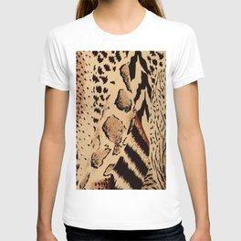 wildlife brown black tan cheetah leopard safari animal print T-shirt
