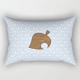 Animal Crossing Winter Leaf Rectangular Pillow