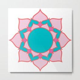 mandala pink/blue Metal Print