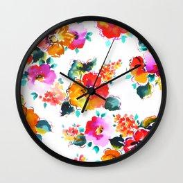 Hand-Painted Watercolor Wall Clock