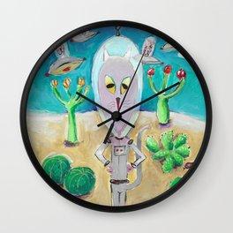 New Mexico Cats Wall Clock