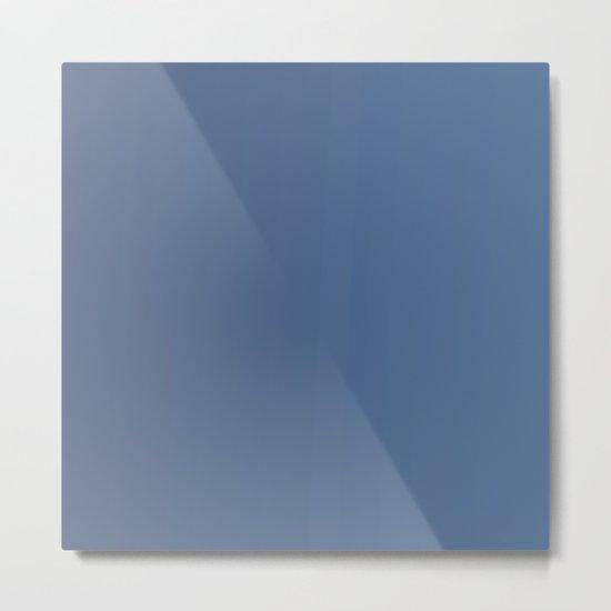 Dark Blue Gradient Metal Print