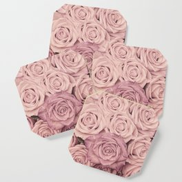 Some People Grumble - Pink Rose Pattern - Roses Coaster