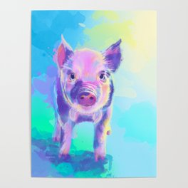 Once Upon a Pig - digital painting Poster