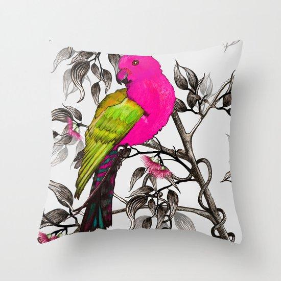 King Parrot Throw Pillow