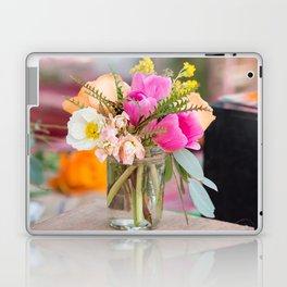 Pretty flowers displayed in a glass mason jar. Laptop & iPad Skin