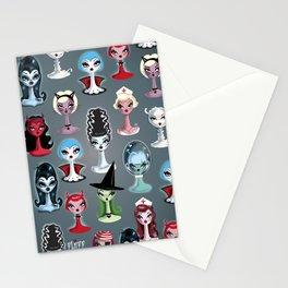 Spooky Dolls Pattern Stationery Cards