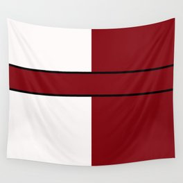 Team Color 6...maroon,white Wall Tapestry