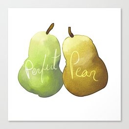 perfect pear Canvas Print