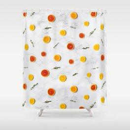 orange slices pattern Shower Curtain