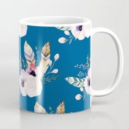 Blue & Flowers Coffee Mug