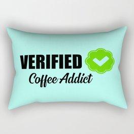 Verified coffee addict funny quote Rectangular Pillow