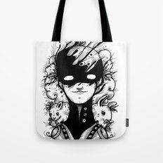 Guardians of the Woods (Black & White Version) Tote Bag