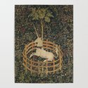 The Unicorn in Captivity (from the Unicorn Tapestries) by ebvonniessen
