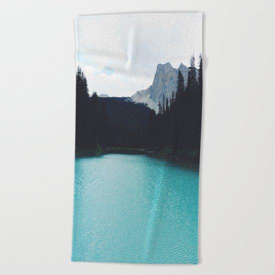 Moody Emerald Lake Beach Towel