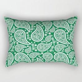 Paisley (White & Olive Pattern) Rectangular Pillow
