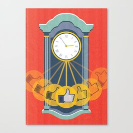 Wasting Time Online Canvas Print