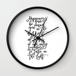 Albus Dumbledore Quotes Happiness can be found, even in the darkest of times  Wall Art Wall Clock