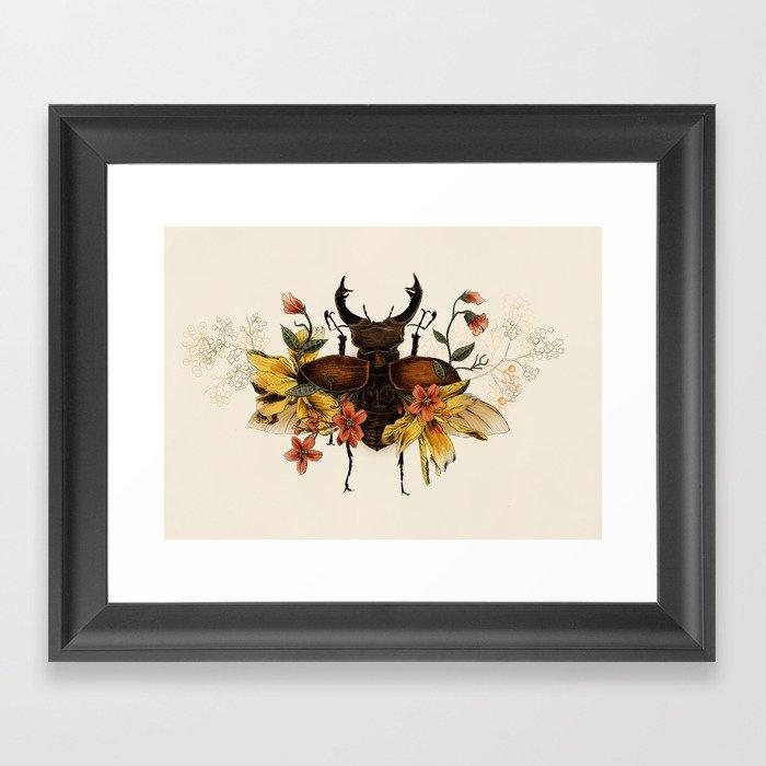 Blooming Beetle Gerahmter Kunstdruck