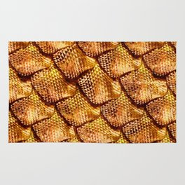 3d abstract snake skin, reptile scale Rug