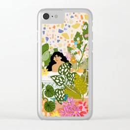 Bathing with Plants Clear iPhone Case